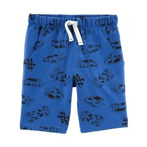 NWT Carter's Blue Race Car Pull On Shorts 6